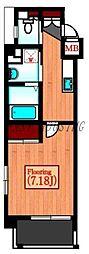 JR山手線 代々木駅 徒歩6分の賃貸マンション 3階ワンルームの間取り