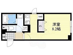 FABRIC菊川 3階1Kの間取り