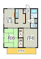 エコーハイツ[1階]の間取り