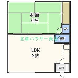 [タウンハウス] 北海道札幌市東区北二十条東6丁目 の賃貸【/】の間取り