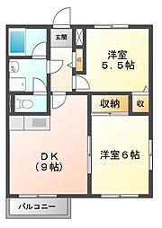 メイプルK−A[2階]の間取り