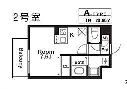 レヴィータ京橋[202号室号室]の間取り