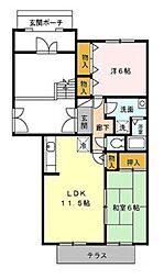 アベニール21[1階]の間取り