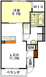 サウス ビスタ I・II[1階]の間取り