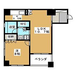 リーガル京都二条城東[4階]の間取り