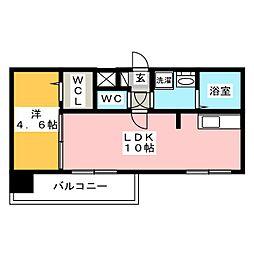 modern palazzo HAKATA riva I[2階]の間取り