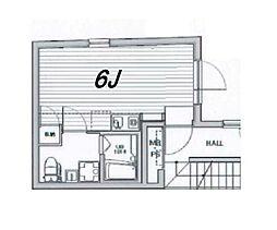 東京都練馬区旭丘1丁目の賃貸マンションの間取り