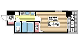 エステムプラザ神戸水木通グランクロス[805号室]の間取り
