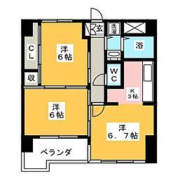 ベルソーレ支倉[6階]の間取り