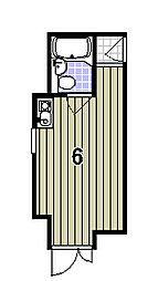 セゾン衣笠[302号室]の間取り