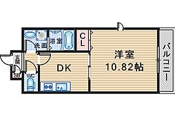 KSレジデンス江坂西 3階1DKの間取り