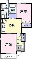 サンライズK 春日部市賃貸アパート[1階]の間取り