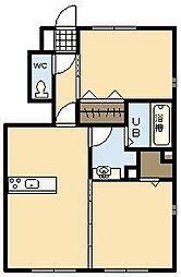 メルヴェーユ B棟[1階]の間取り