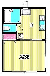 東京都杉並区荻窪3の賃貸アパートの間取り
