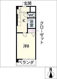 シンフォニー東新町[4階]の間取り