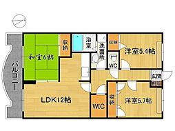 ファミール筑紫野[2階]の間取り