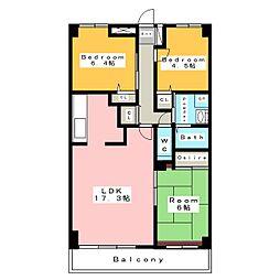 中央マンション安城II[1階]の間取り