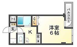 ルーエーベル潮江弐番館[2階]の間取り