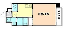 アール大阪リュクス 4階1Kの間取り
