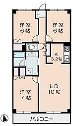 アドミラルブルン成城[202号室]の間取り