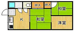 宮田文化 2号棟[2階]の間取り
