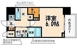 大阪府大阪市西区立売堀3丁目の賃貸マンションの間取り
