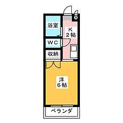 アルファ西古松[1階]の間取り