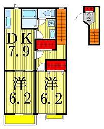 パークハマナカ[2階]の間取り