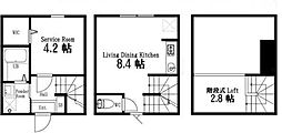 東京都品川区北品川5丁目の賃貸アパートの間取り