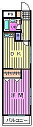 ワコーレエレガンス指扇[2階]の間取り