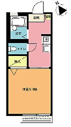 パークサイドレジデンス[2階]の間取り