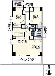 NORTH FORTUNA[2階]の間取り
