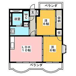 モンフレール[1階]の間取り