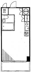 日興パレス横浜[6階]の間取り