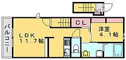 ルミナス篠栗2nd[2階]の間取り