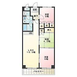 第14柴田マンション[3階]の間取り
