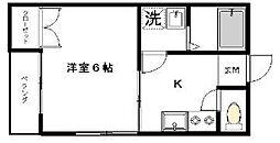 ハイム瀬田[2階]の間取り
