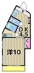コーポ稲垣[303号室]の間取り