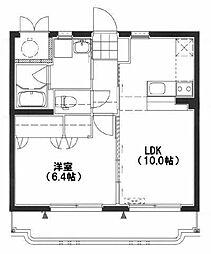 エクシード霧島II[2階]の間取り