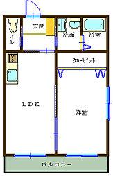 カーサドレッセ[3階]の間取り