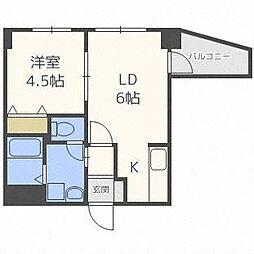アリュール・マルヤマ[6階]の間取り