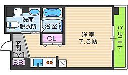 OrientCity・M 8階ワンルームの間取り