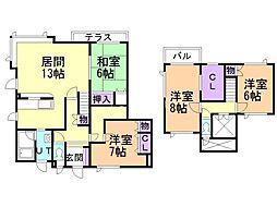 里塚緑ヶ丘9丁目一棟二戸 1階4LDKの間取り