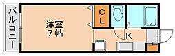ベルトピアエグゼ福岡[6階]の間取り