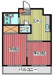 ハイム三富[1階]の間取り