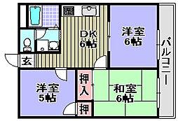 きらめき壱番館・弐番館[1-305号室]の間取り