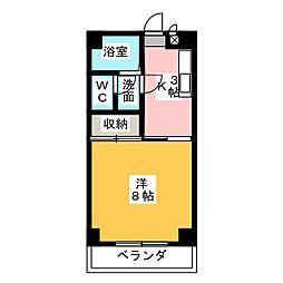 第二末廣ビル[3階]の間取り