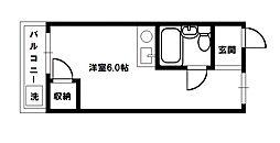 ベルハイム俊徳道[2階]の間取り
