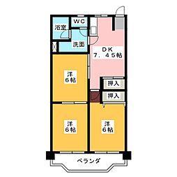フィレンツェ弥富第二[3階]の間取り