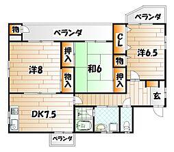 サンテラスII[3階]の間取り
